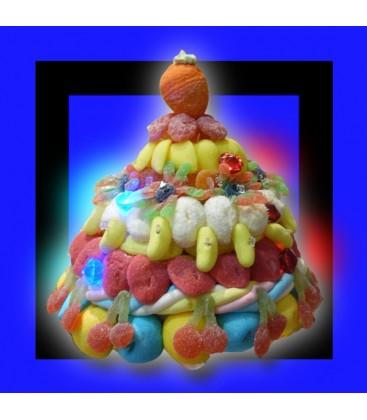 LUMEN Pièce montée de bonbon lumineuse dans la nuit