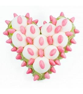 Cœurs fruités vanille-pomme en bonbons