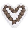 Cœur en Chocolat et guimauve vanille