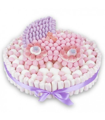 Pièce montée de bonbons naissance-Berceau