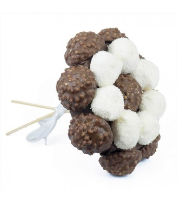 Bouquets Choco ruban blanc