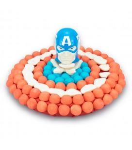 Tarte Captain America en bonbons
