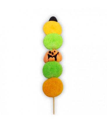 La citrouille verte-Brochette d'Halloween