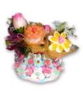 L'île aux fleurs - Gros gâteau aux fleurs des îles en bonbons
