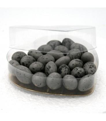 Cœur de galet - petite bonbonnière de galets aux amandes