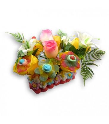 Fleurs du sud - Composition florales à partir de bonbons.