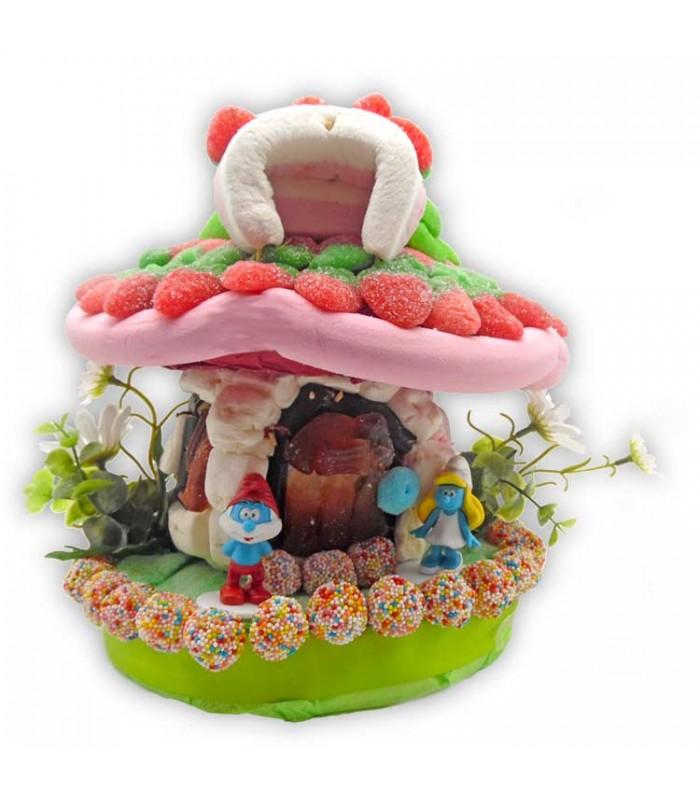 La schtroumpf maison personnages et animaux rigolos en bonbons - Schtroumpf maison ...