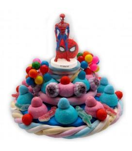 Sweets Spiderman - Gâteau d'anniversaire avec bougie