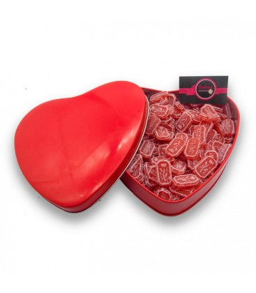 La boite de coquelicots de Nemours - Bonbonnière en forme de cœur