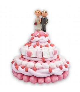 Romeo et Juliette - Pièce montée de bonbon pour mariage
