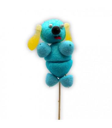 Azor le chien en brochette - brochette de bonbons