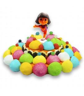 Dora Exploratrice Grande tarte de bonbons