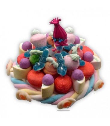 Princesse Poppy - petit gâteau de bonbon Troll