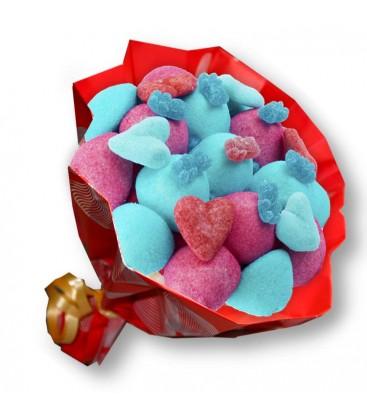 "Bouquet de bonbon ""Ich liebe dich""-Emb cello"