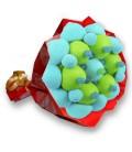 """Bouquet de bonbons """"PASSO""""-EMB Cello +Papier cadeau rouge"""