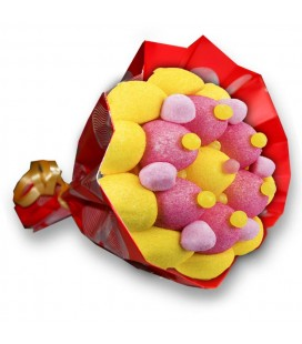 Bouquet SALSA - composition de bonbons-EMB Cello+Papier cadeau Rouge