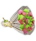 """Bouquet de bonbons """"Ik houd van je""""-emb cello+papier cadeau rayé or"""