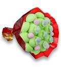 """Bouquet de bonbons - """"Ballade à Saint-Etienne""""-Emb cello+Papier rouge"""