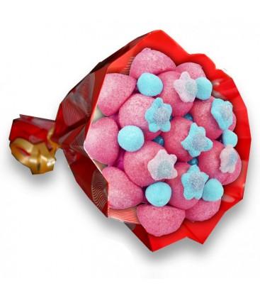 """Bouquet de bonbons - """"Ballade à Bordeaux""""-emb rouge"""