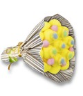 """Bouquet de bonbons - """"Ballade à TOULOUSE""""- emballage cello+papier rayure"""
