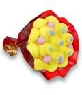 """Bouquet de bonbons - """"Ballade à TOULOUSE""""- emballage cello+papier rouge"""