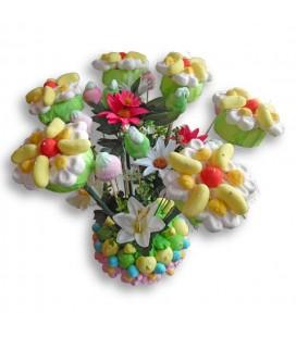 Les Andelys -présentation florale en bonbons
