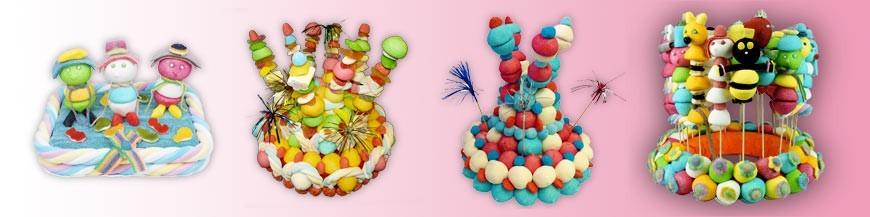 Présentoirs de brochettes en bonbons