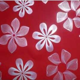 papier rouge fleuri